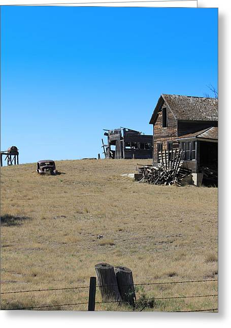 Greeting Card featuring the photograph Real Estate On The Open Plain by Kathleen Scanlan