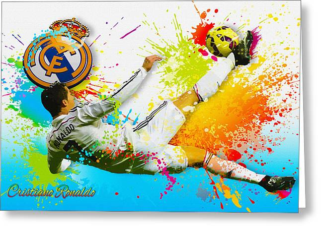 Real Madrid - Cr Greeting Card
