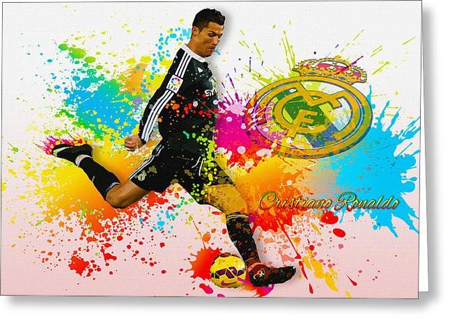 Real Madrid - Portuguese Forward Cristiano Ronaldo Greeting Card