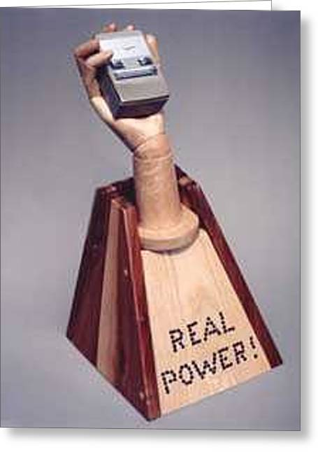 Real Power Greeting Card by Bill Czappa