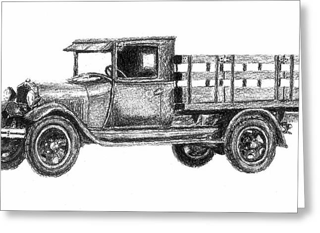 Real Work Truck - 1929 Ford Stake Truck Greeting Card