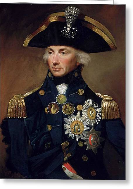 Rear-admiral Sir Horatio Nelson Greeting Card