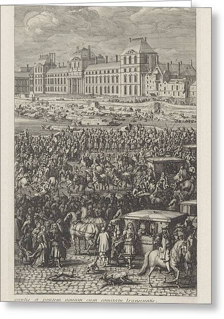 Rear Guard Of The Procession Of King Louis Xiv Of France Greeting Card