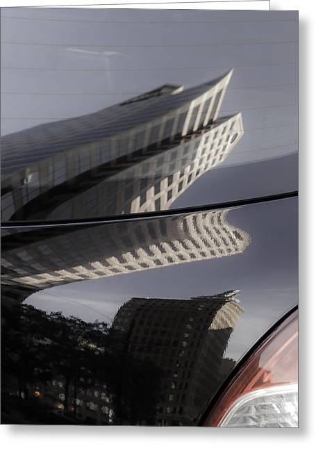 Greeting Card featuring the photograph Rear Reflections by Steven Milner