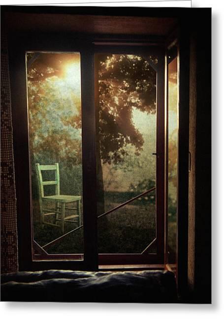 Rear Window Greeting Card by Taylan Apukovska