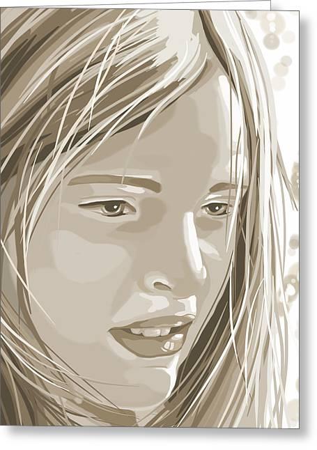 Rebecca Greeting Card by Veronica Minozzi