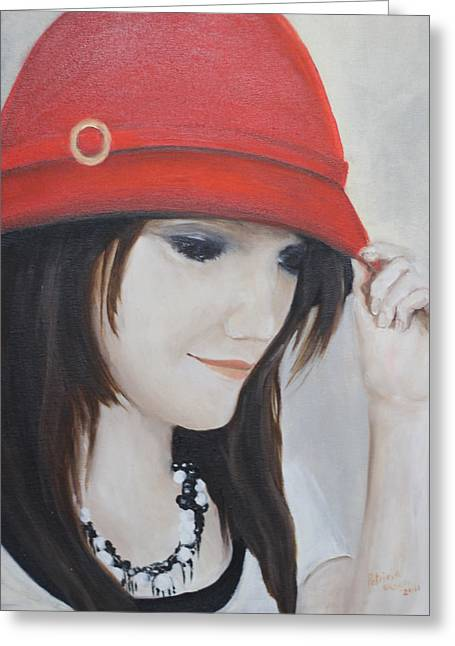 Rebecca's Red Hat Greeting Card
