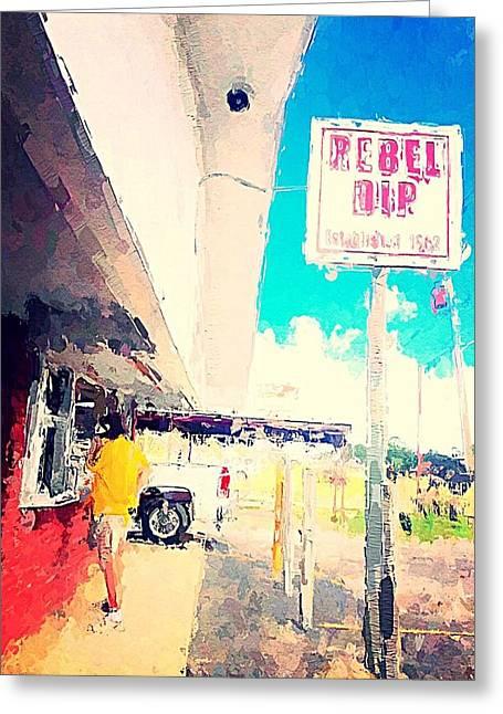 Rebel Dip Greeting Card by M  Stuart