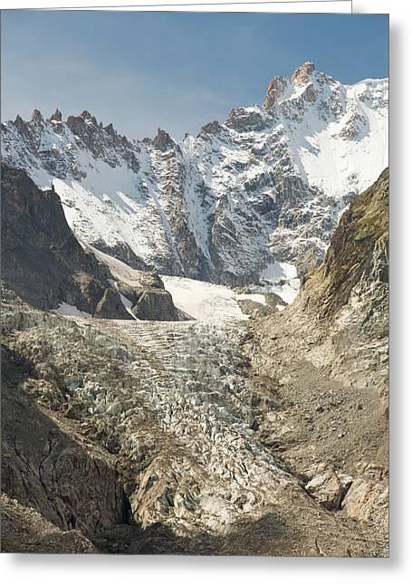 Receding Glacier De Saleina Greeting Card