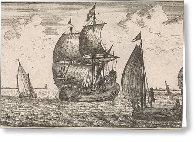 Receipt Of The Post At Sea, Jacob Quack, Jan Houwens Greeting Card