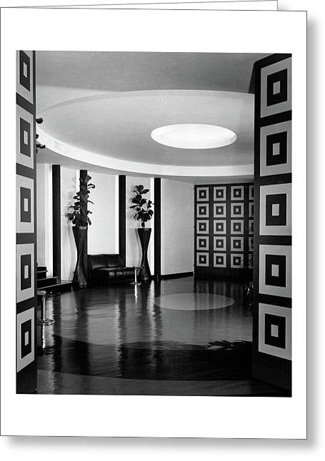 Reception Hall At The Terrace Club Greeting Card