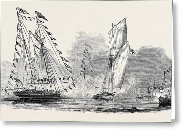 Reception Of Her Majesty By The Royal Yacht Squadron Greeting Card