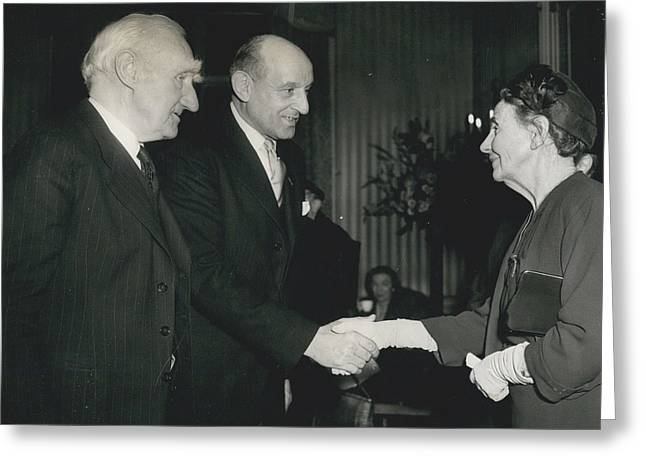 Reception To Mark Award Of Nobel Prize Greeting Card by Retro Images Archive