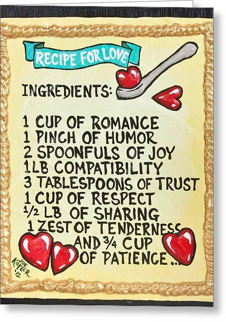 Recipe For Love Greeting Card