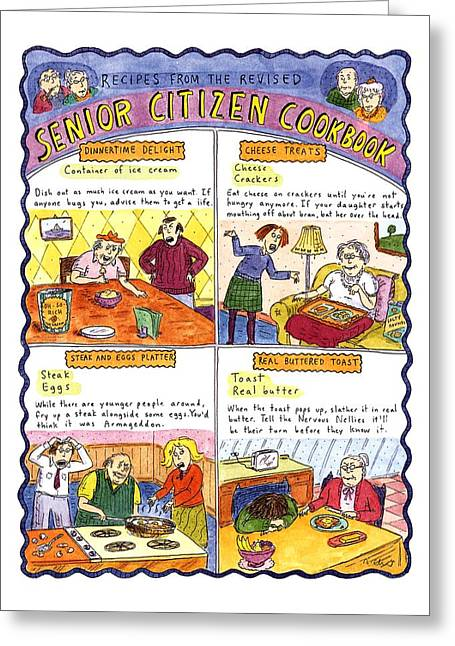 Recipes From The Revised Senior Citizen Cookbook Greeting Card