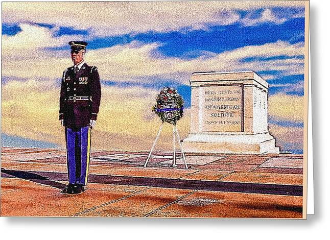 Recitation Of The Requirements Of Honor Guards Greeting Card by Bob and Nadine Johnston