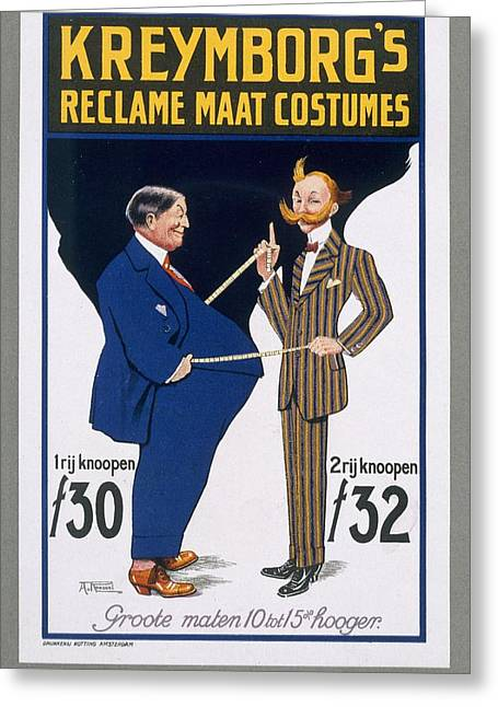 Reclame Maat Costumes, Poster Greeting Card by A. von Roessel
