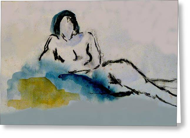 Reclining Figure Greeting Card