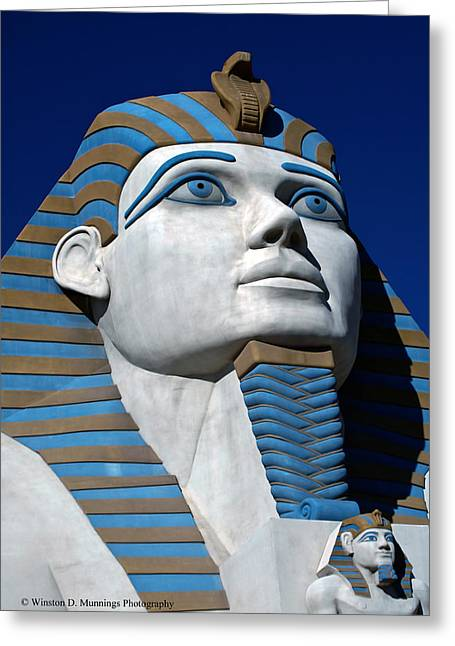 Recreation - Great Sphinx Of Giza Greeting Card