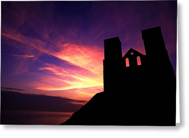 Reculver Church At Sunrise Greeting Card