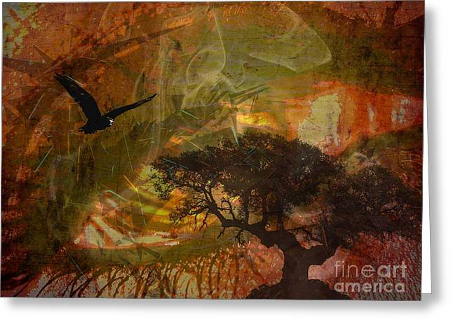 Recurring Dream Greeting Card by Jessie Art