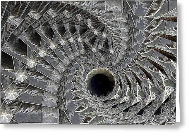 Recursion Arc Greeting Card by Ron Bissett