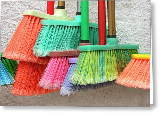 Recycled Plactic Brooms Greeting Card