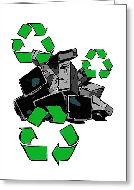 Recycling Concept Greeting Card by Victor Habbick Visions
