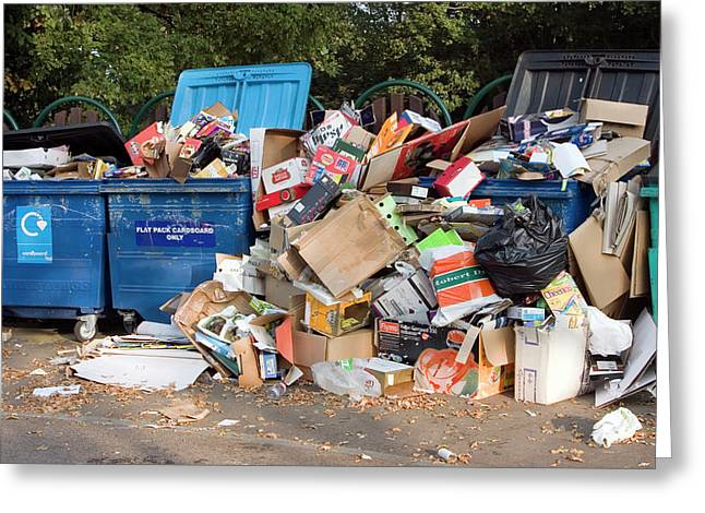Recycling Site Greeting Card by David Taylor/science Photo Library
