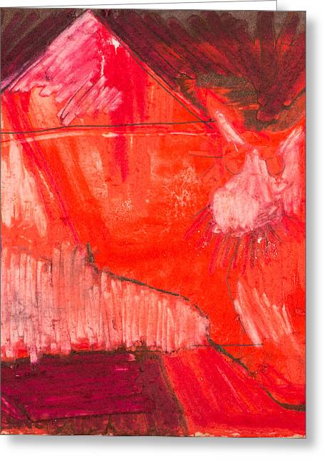Red. 1 Greeting Card by Marie Tosto