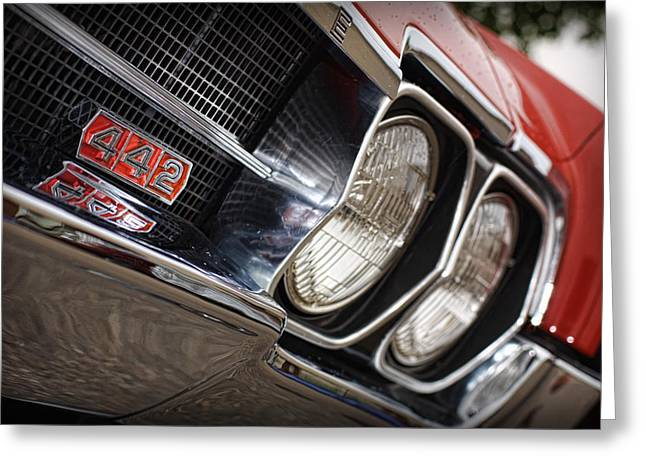 Red 1966 Olds 442  Greeting Card by Gordon Dean II