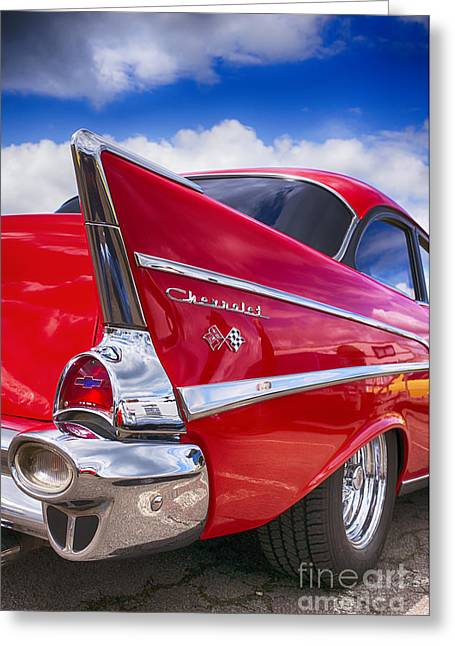 Red 57 Hdr Greeting Card