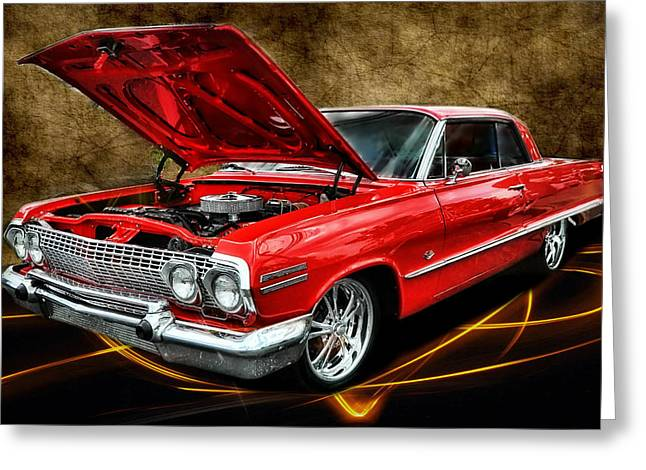Red '63 Impala Greeting Card
