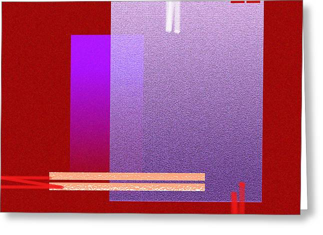 Red Abstract 2 Greeting Card by Anil Nene