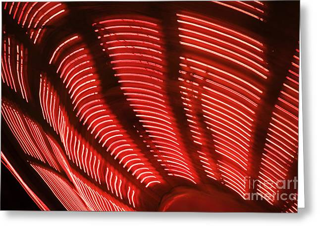 Red Abstract Light 15 Greeting Card