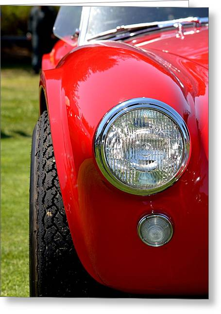 Greeting Card featuring the photograph Red Ac Cobra by Dean Ferreira