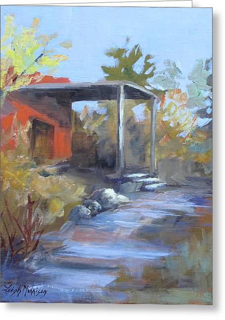 Red Adobe Greeting Card by Leigh Morrison