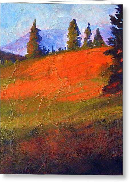 Red Alpine Greeting Card