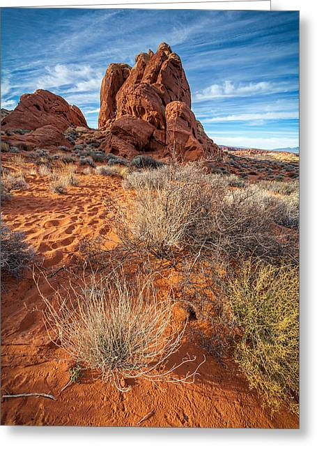 Red And Blue Valley Of Fire Greeting Card