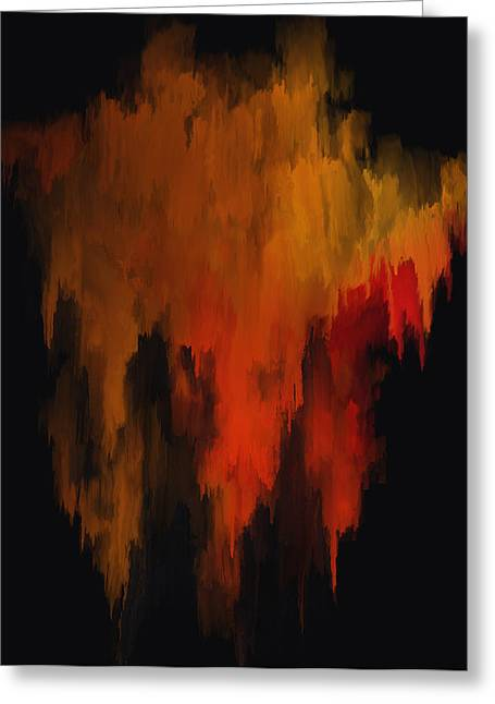 Red And Gold 1 Greeting Card by Michael Pickett