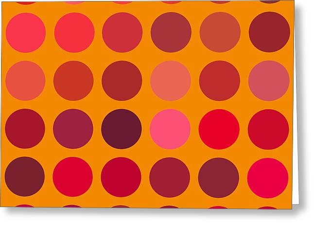 Red And Orange Greeting Card