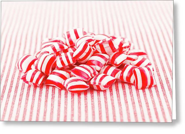 Red And White Sweets Greeting Card by Wladimir Bulgar
