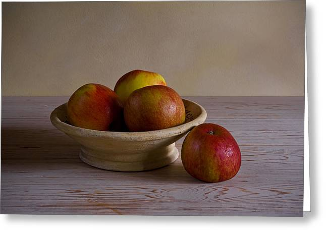 Greeting Card featuring the photograph Red Apples by Trevor Chriss