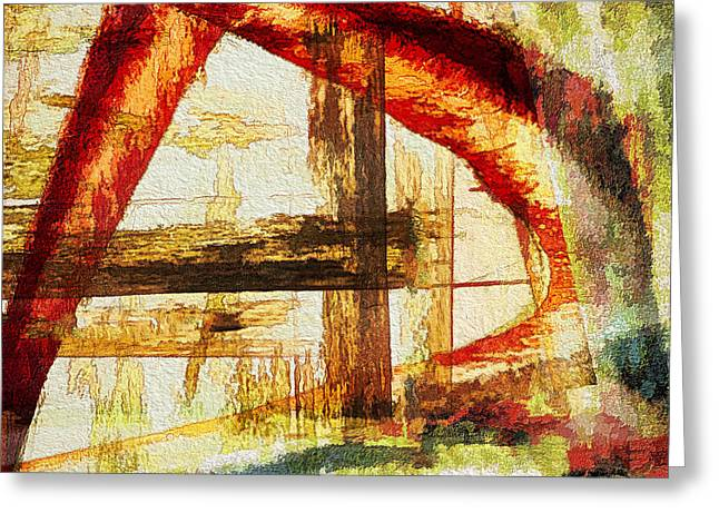 Red Arches Greeting Card