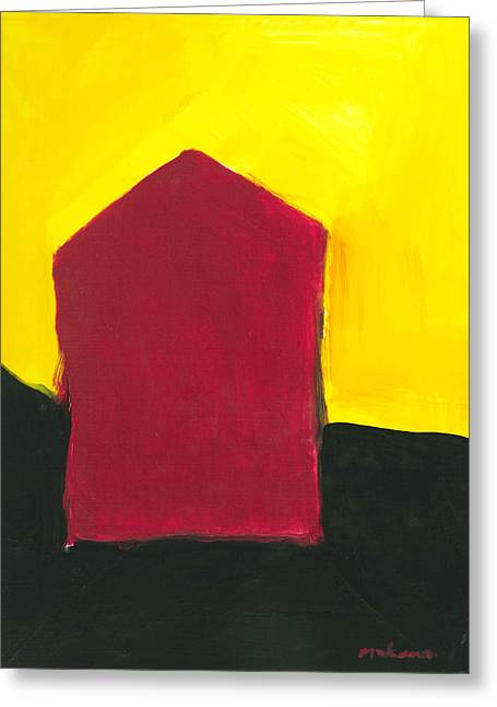 Red Arthouse Greeting Card