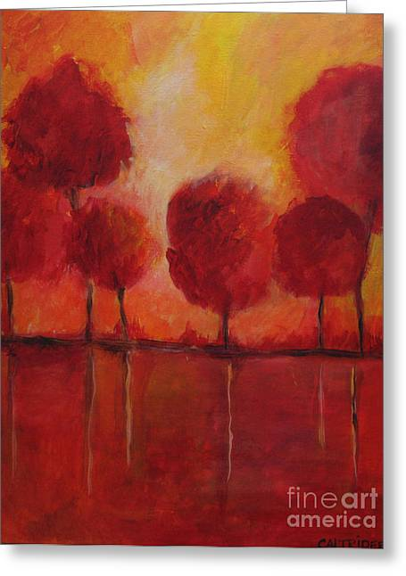 Red Autumn Greeting Card by Alison Caltrider