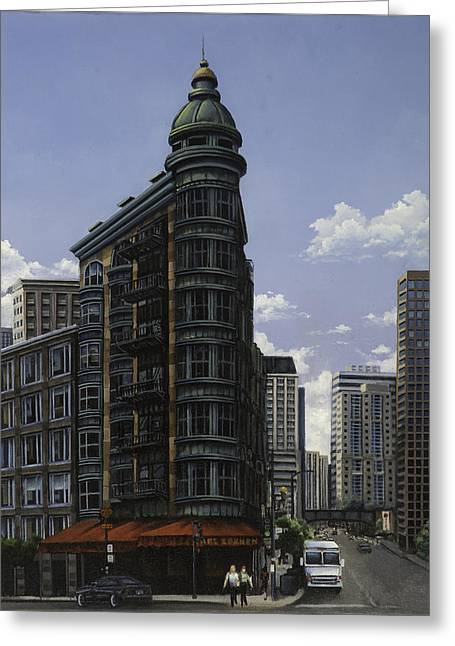 Red Awning Greeting Card by Troy Bjorklund