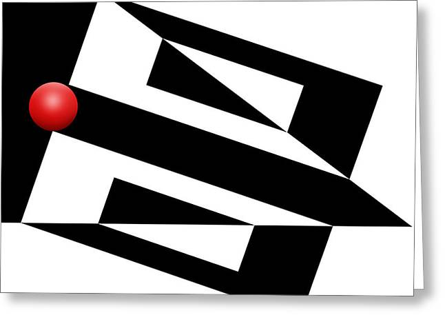 Red Ball 15 Greeting Card by Mike McGlothlen