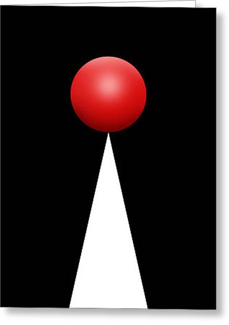 Red Ball 28 Greeting Card