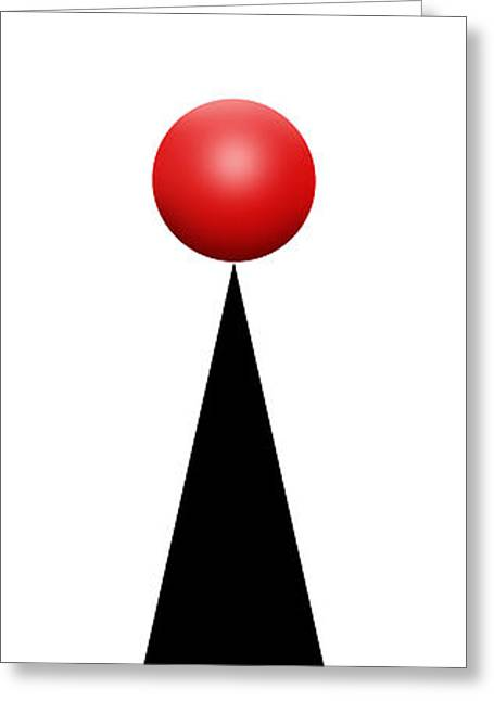 Red Ball 28a V Panoramic Greeting Card